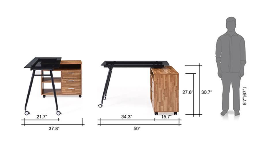 Niccol adjustable study table golden oak 16 17