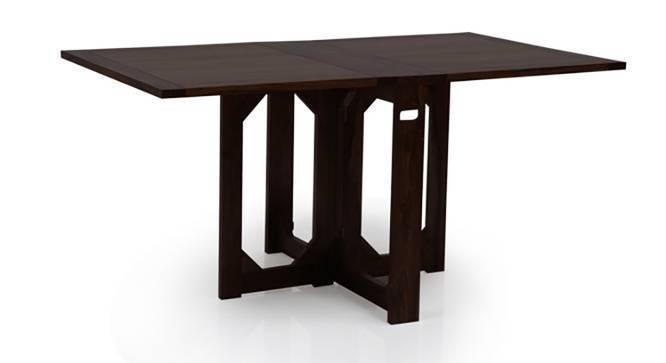 Danton 3 to 6 Capra 6 Seat Folding Dining Table Set  : DantonFoldingDiningTableSetCapraChairsMahoganyFinish03IMG0353 from www.urbanladder.com size 666 x 363 jpeg 11kB