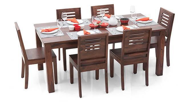 Arabia XL - Capra 6 Seater Dining Set (Teak Finish) by Urban Ladder