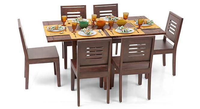Danton 3to6 Capra 6 Seat Folding Dining Table Set Urban Ladder
