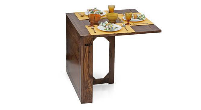 Danton 3-to-6 - Gordon 6 Seat Folding Dining Table Set (Teak Finish) by Urban Ladder