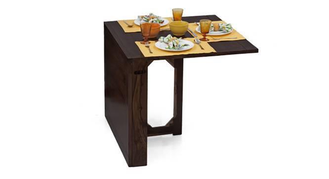 Danton 3-to-6 - Capra 2 Seater Folding Dining Table Set (Mahogany Finish) by Urban Ladder