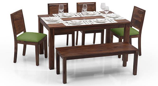 Arabia oribi 6 seater dining table set with bench urban ladder - Dining table images ...