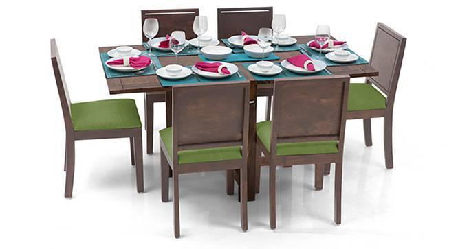Danton 3to6 Oribi 6 Seater Folding Dining Table Set Urban Ladder