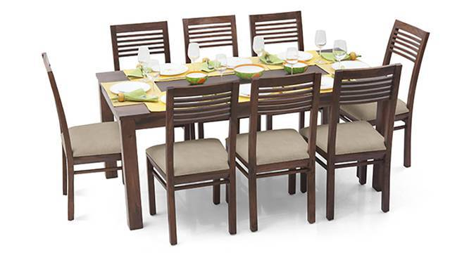 Arabia XL - Zella 8 Seater Dining Set (Teak Finish, Wheat Brown) by Urban Ladder