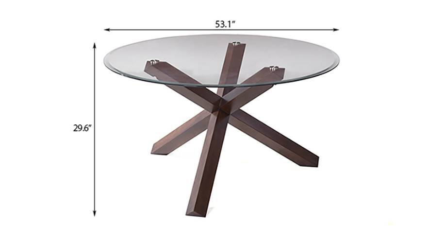 matheson avalon 6 seater round glass top dining table set urban