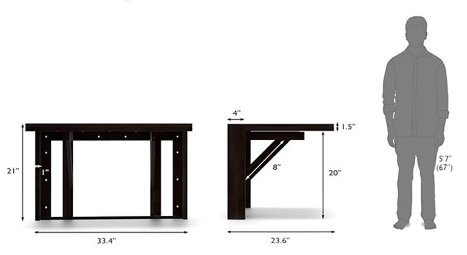 Blaine capra 2 seater wall mounted dining table set 10