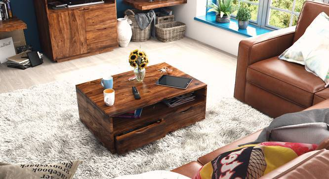 Zephyr Storage Coffee Table (Teak Finish) by Urban Ladder