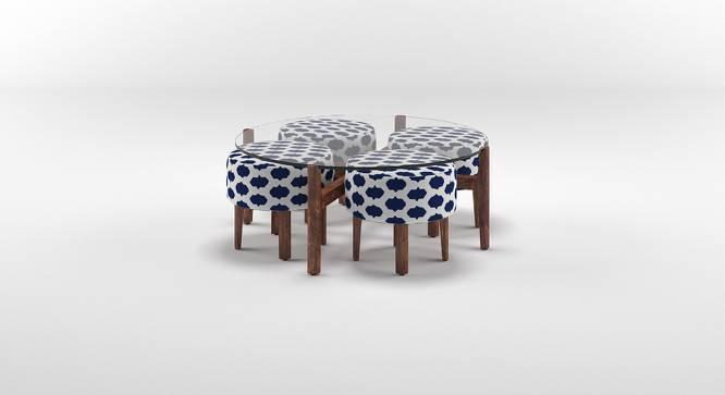 Cayman Coffee Table Set (Teak Finish, Inkblot Blue) by Urban Ladder
