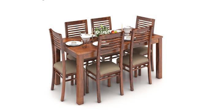 Arabia XL Storage - Zella 6 Seater Dining Table Set (Teak Finish, Wheat Brown) by Urban Ladder