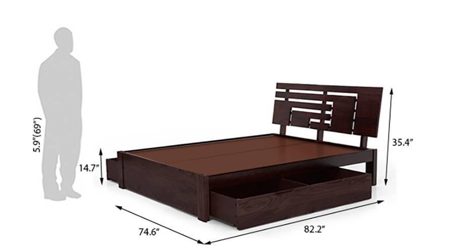 Stockholm storage bed mahogany finish 08 k