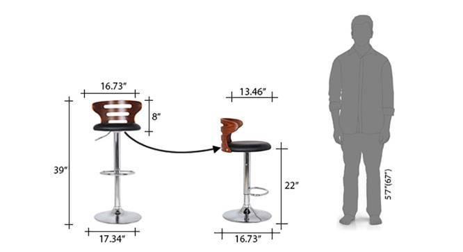 Mcgillin Adjustable Height Swivel Bar Stools - Set of 2 (Walnut Finish) by Urban Ladder