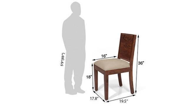 Oribi dining chairs teak wheat brown 05