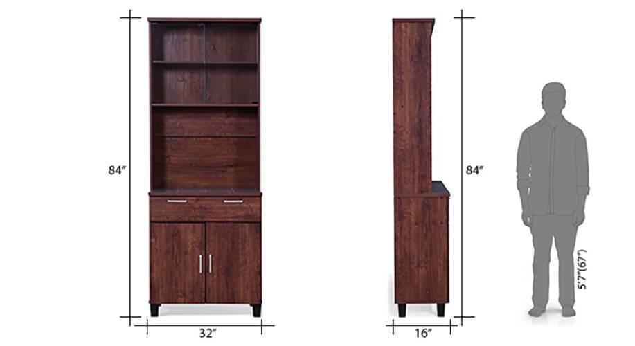 Portland kitchen cabinet 4 door walnut 13 14