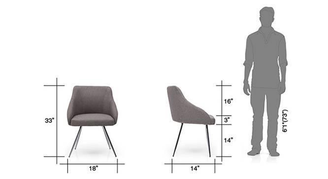 Wodehouse - Pelli Study Sets (Walnut Finish, Grey) by Urban Ladder