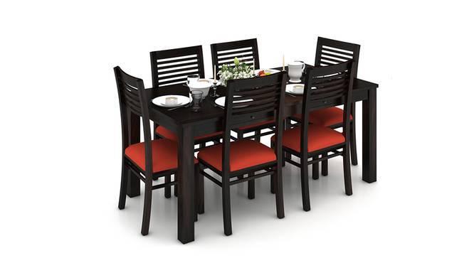 Arabia XL Storage - Zella 6 Seater Dining Table Set (Mahogany Finish, Burnt Orange) by Urban Ladder