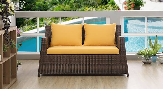 Samui Patio 2 Seater Chair (Brown Finish) by Urban Ladder