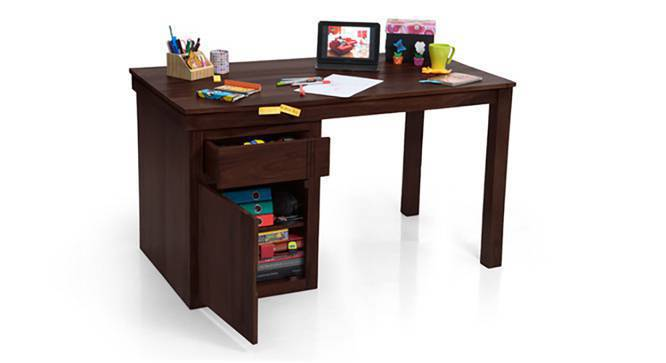 Bradbury - Ray Executive Study Set (Mahogany Finish, Black) by Urban Ladder