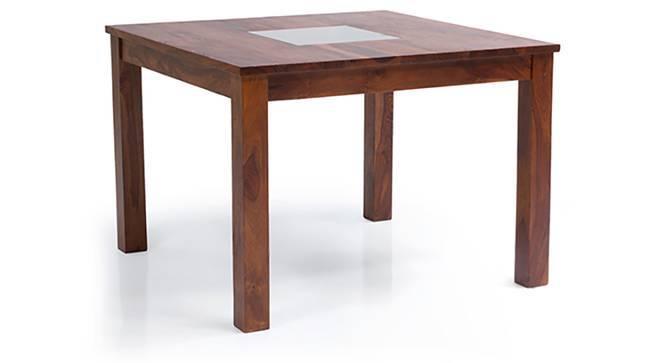 Brighton Square 4 Seater Dining Table (Teak Finish) by Urban Ladder