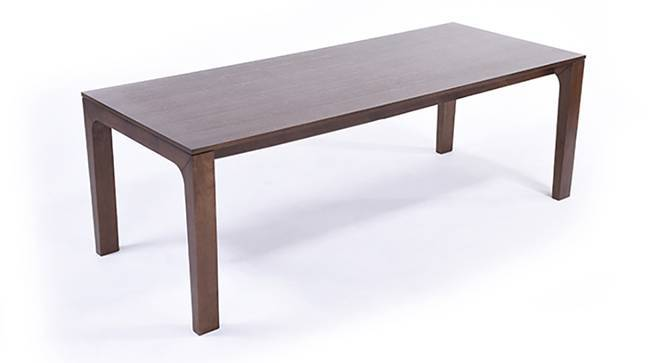 Arco 8 Seater Dining Table (Dark Walnut Finish) by Urban Ladder