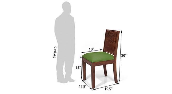 Oribi dining chairs 6 green teak dm