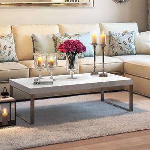 Awesome Marcel Coffee Table White Gloss Finish Large Size With Center Table  Designs For Drawing Room