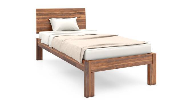 Boston Single Bed (Teak Finish, Without Trundle) by Urban Ladder