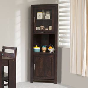 Murano Two-Door Corner Cabinet (Mahogany Finish) by Urban Ladder