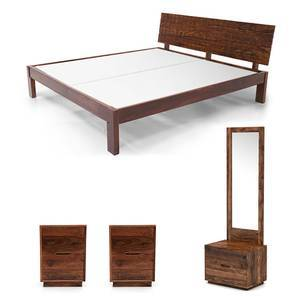 Valencia - Zephyr Compact Bedroom Set (Teak Finish, King Bed Size) by Urban Ladder