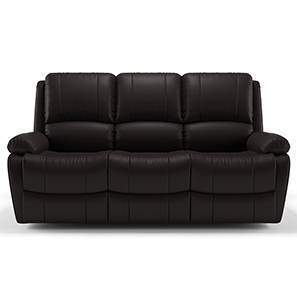 Tribbiani Three Seater Recliner Sofa (Chocolate Brown Leatherette)