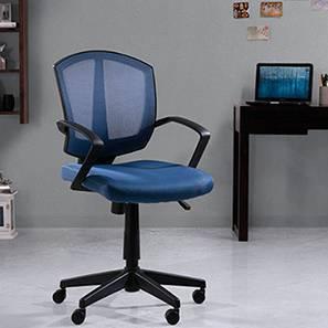 Adams Study Chair - 1 Axis Adjustable (Blue, Plastic  Base) by Urban Ladder