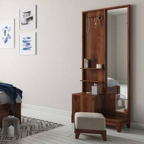 Magellan Dressing Table With Pouffe (Teak Finish)