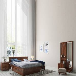 Valencia - Magellan Storage Compact Bedroom Set (Teak Finish) by Urban Ladder