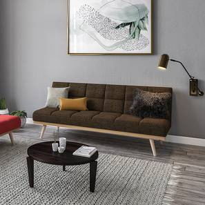 Florentin Sofa Cum Bed (Brown, Fabric Material) by Urban Ladder