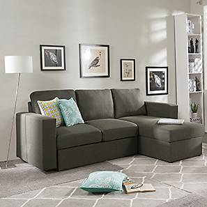 Kowloon Sectional Sofa Cum Bed with Storage (Mist Grey)