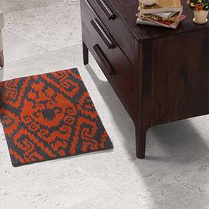 "Jalin Hand Tufted Carpet (60'' x 93"" Carpet Size, Brick Red & Charcoal)"