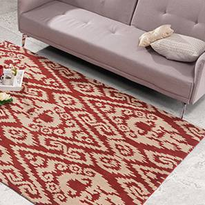 "Jalin Hand Tufted Carpet (36"" x 60"" Carpet Size, Brick Red)"