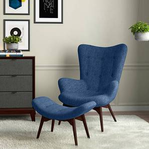 Contour Chair & Ottoman Replica (Blue)