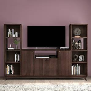 Lincoln High TV Unit (Walnut Finish, 2 High Shelves Configuration)
