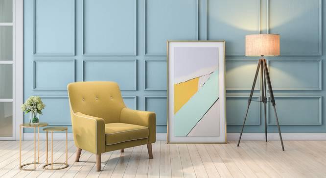 Hagen Lounge Chair (Cornsilk Yellow) by Urban Ladder
