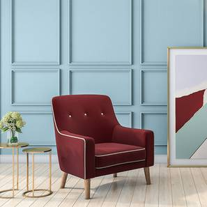 Hagen Lounge Chair (Sangria Red)