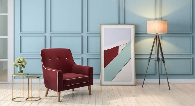 Hagen Lounge Chair (Sangria Red) by Urban Ladder
