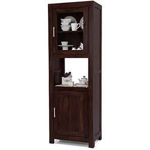 Murano Two-Door Display Cabinet (Mahogany Finish)