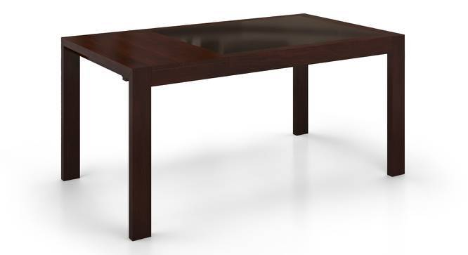 Vanalen 4 to 6 Extendable Glass Top Dining Table (Dark Walnut Finish) by Urban Ladder
