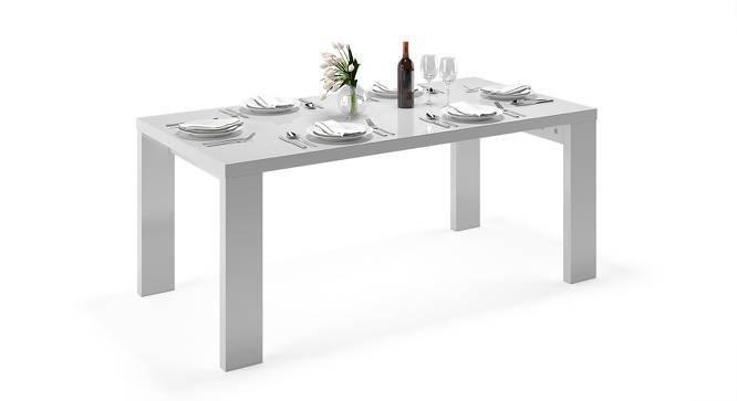 Kariba 6 Seater High Gloss Dining Table (White High Gloss Finish) by Urban Ladder
