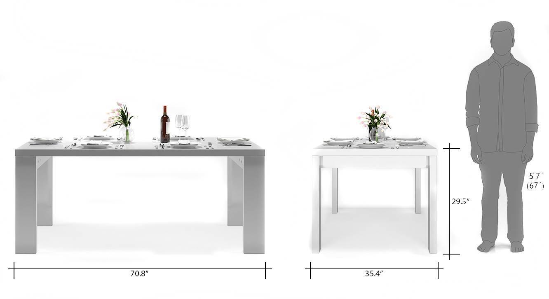 Kariba 6 seater high gloss dining table wh 08