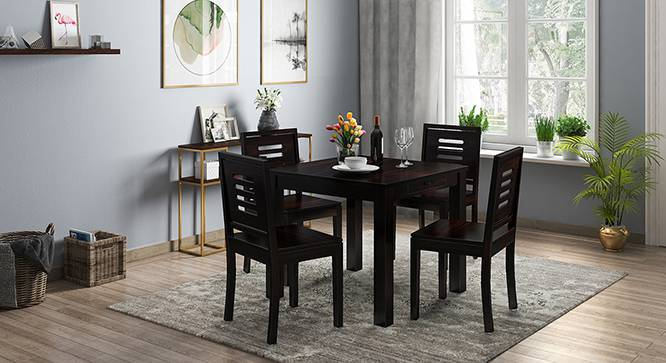 Arabia - Capra 4 Seater Storage Dining Table Set (Mahogany Finish) by Urban Ladder