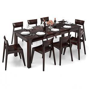 Arabia XXL - Gordon 8 Seater Dining Table Set (Mahogany Finish) by Urban Ladder