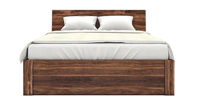 Boston Hydraulic Storage Essential Bedroom Set (Teak Finish, Queen Bed Size) by Urban Ladder