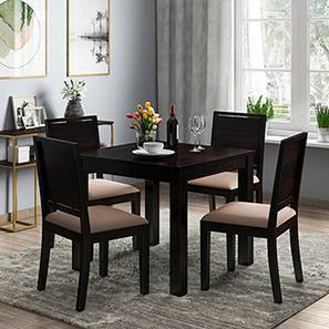 Arabia - Oribi 4 Seater Storage Dining Table Set (Mahogany Finish, Wheat Brown) by Urban Ladder